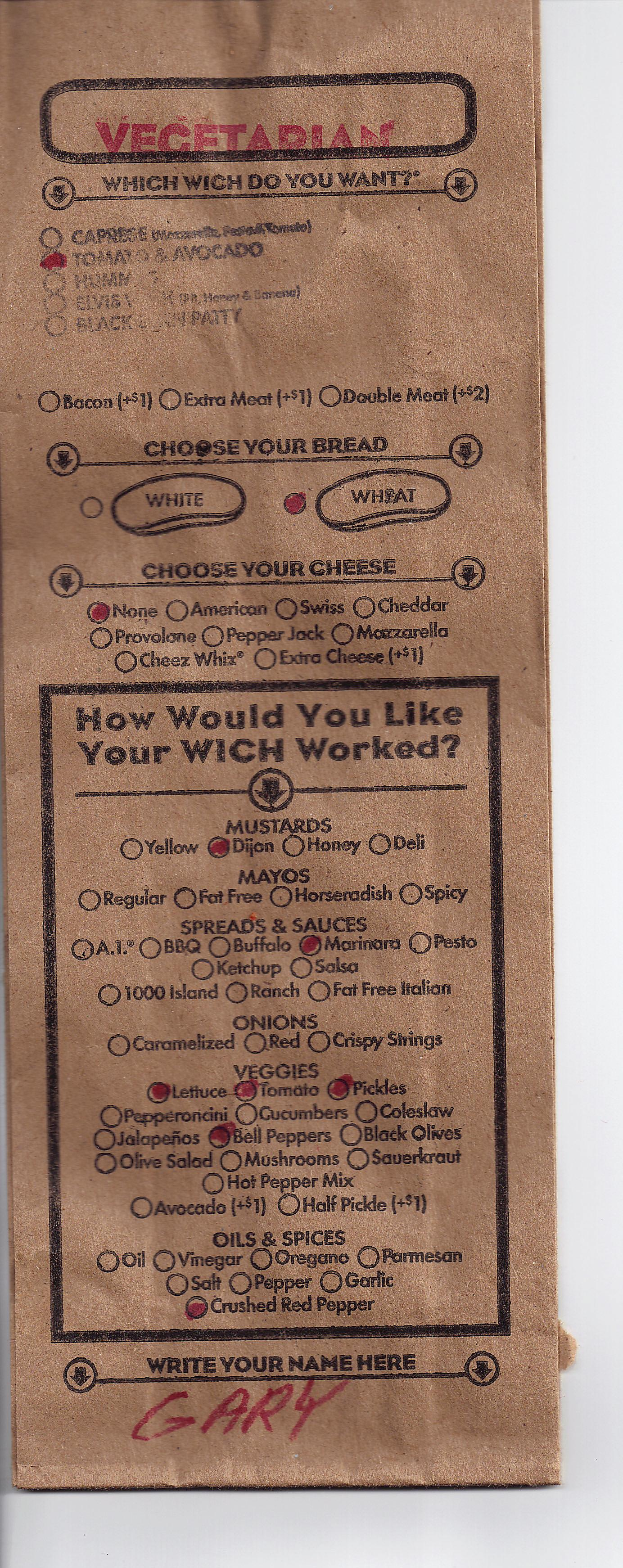Which wich for a vegetarian vegetarian wife s blog