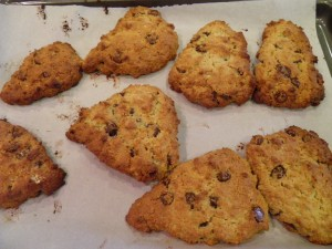 Orange Dark Chocolate Chip Gluten Free Scones