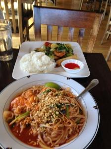 Pad Thai& Spicy Basil Shrimp