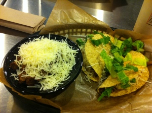 Pick 2 - Steak Bowl and 2 crunchy tacos