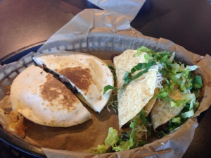 Pick 2 - Steak Quesadilla and 2 Crunchy Tacos