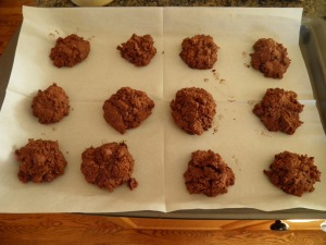 Gluten Free Chocolate Macaroons - Ready for the oven
